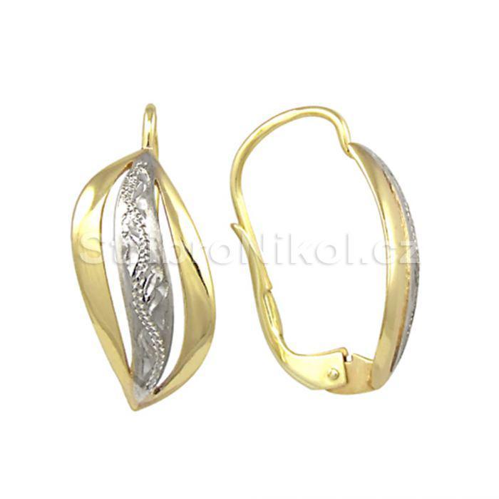 Dámské zlaté náušnice kombinované 00568 162202b6fe3