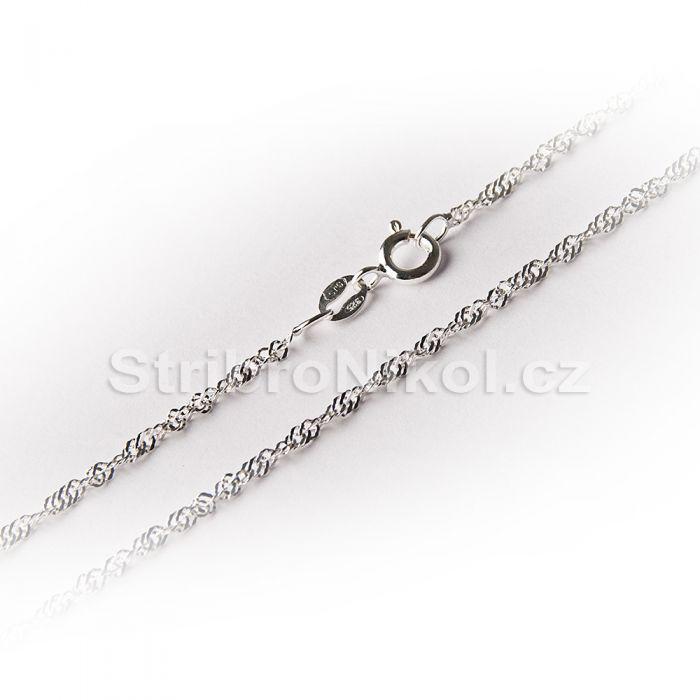 Dámský stříbrný řetízek - lambada 3a642c70472