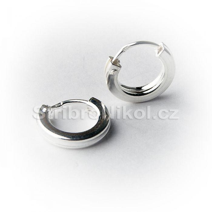 d6072d5fe Stříbrné náušnice kroužky - pánské