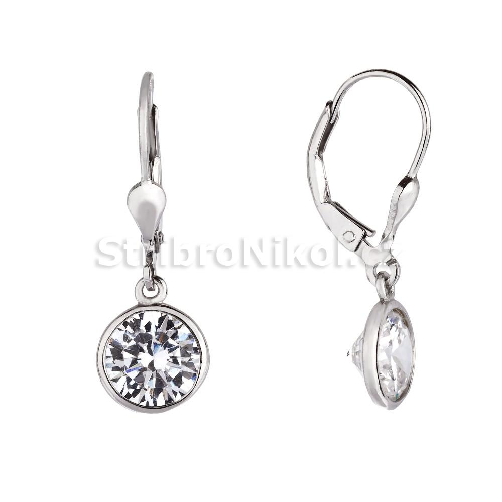 39d558ca4 Dámské stříbrné náušnice s kamínkem 4043