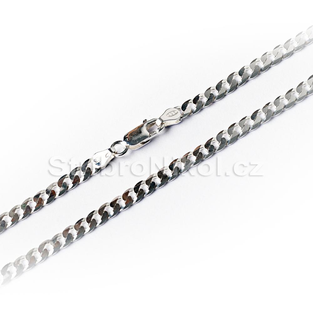 Dámský stříbrný řetízek - 45cm 6fa456bf427
