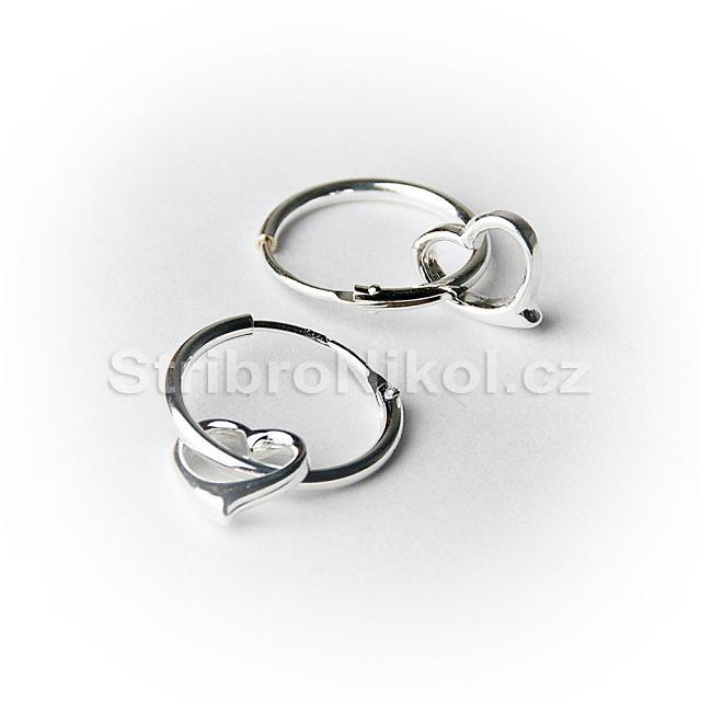 3eec4801e Dětské stříbrné náušnice kroužky