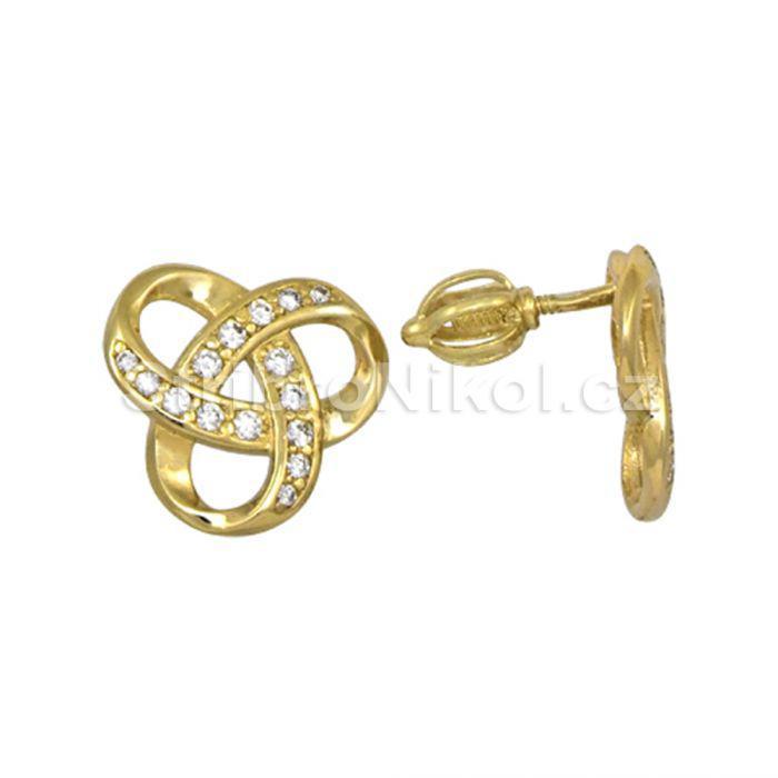 Dámské zlaté náušnice šroubek 00436 68dcfe5f2fe