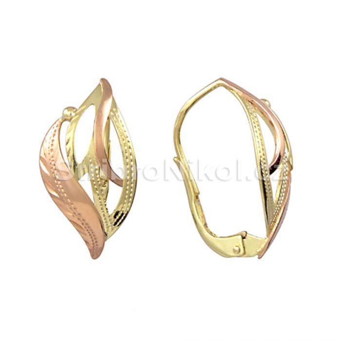 Dámské zlaté náušnice kombinované 00567 120cea9456a